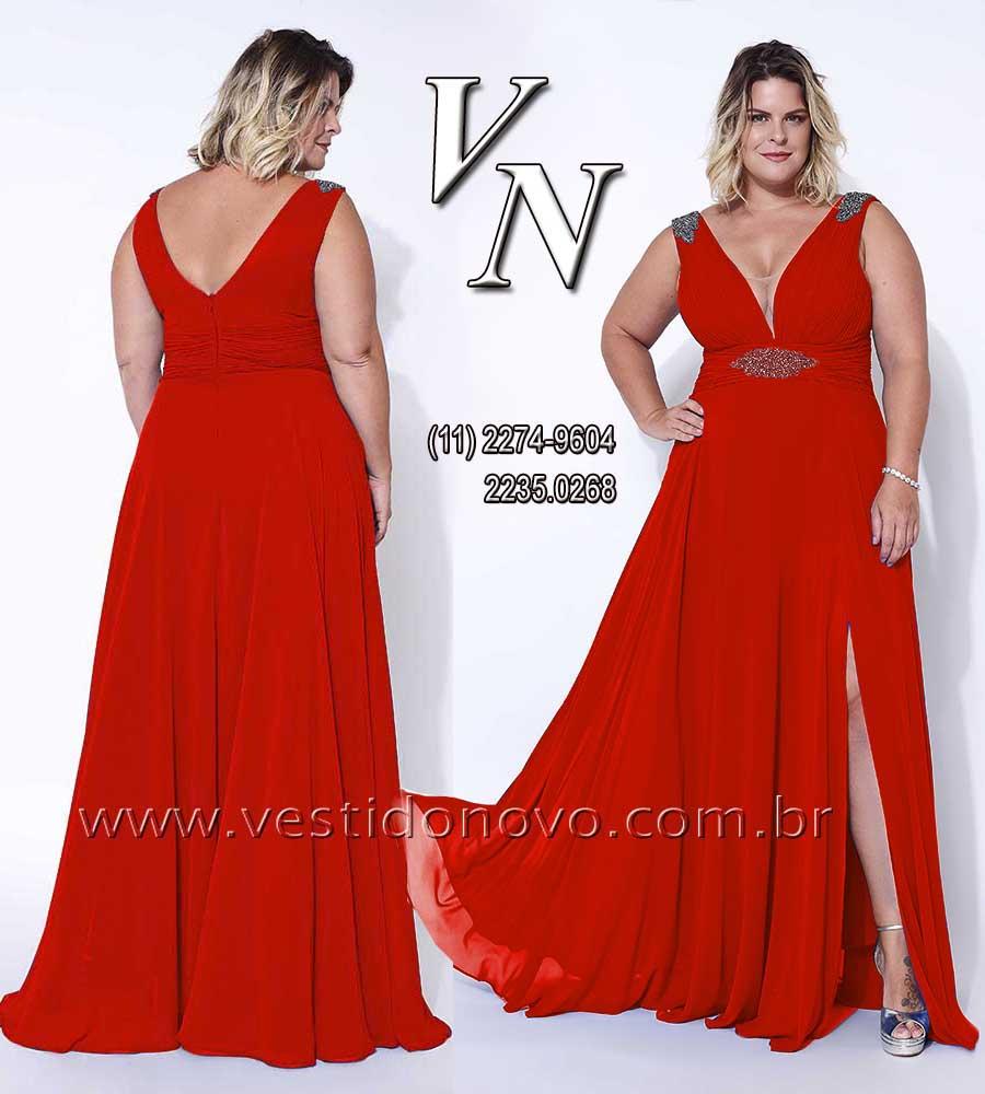 1c1a7dc20bff vestido de festa vermelho mãe do noivo plus size , LOJA VESTIDO NOVO zona  sul ,